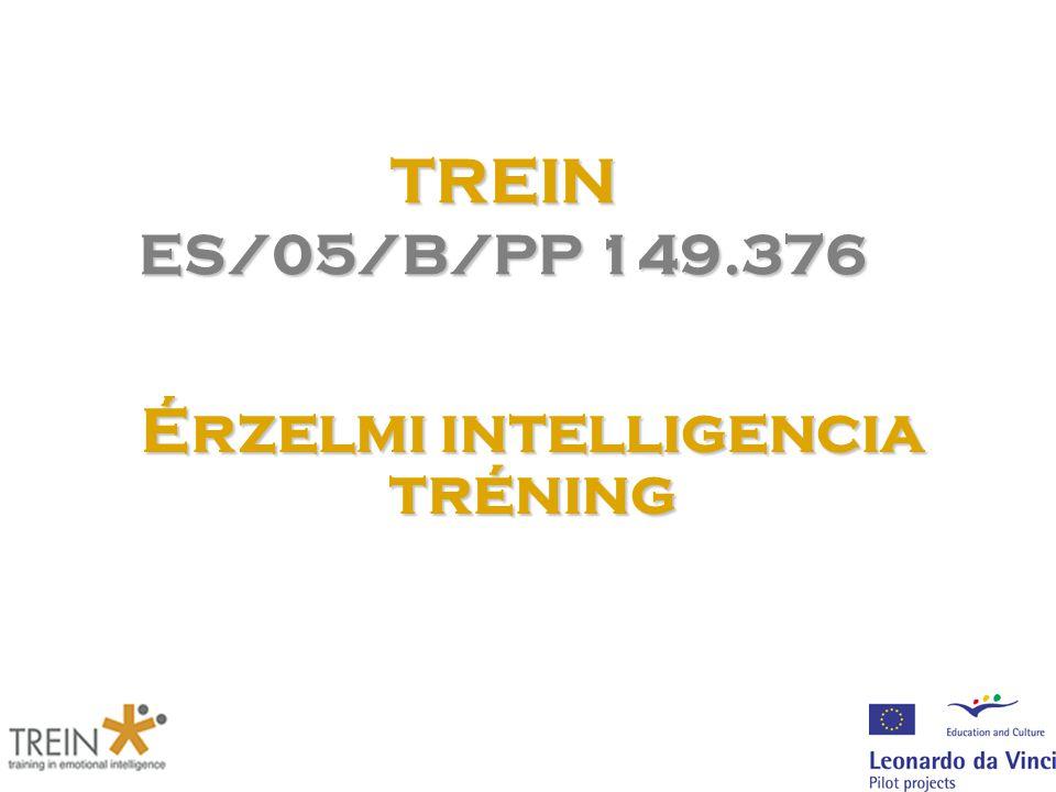 TREIN ES/05/B/PP 149.376 Érzelmi intelligencia tréning