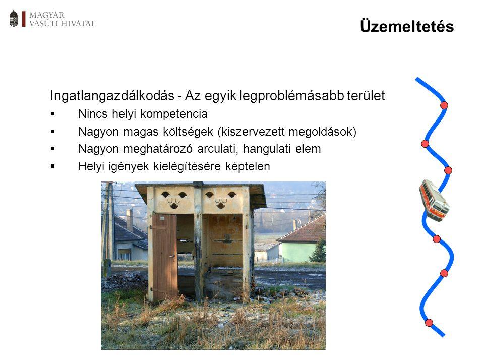 Üzemeltetés Ingatlangazdálkodás - Az egyik legproblémásabb terület  Nincs helyi kompetencia  Nagyon magas költségek (kiszervezett megoldások)  Nagy