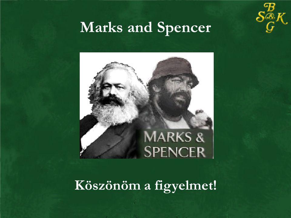 Marks and Spencer Köszönöm a figyelmet!
