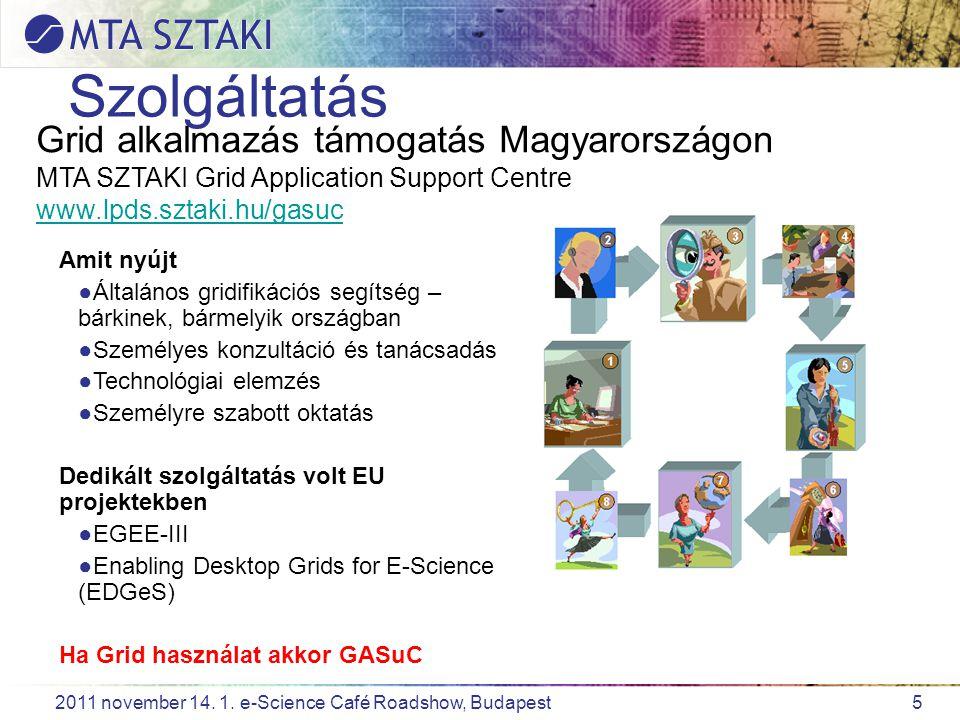 16 2011 november 14.1. e-Science Café Roadshow, Budapest Köszönöm a figyelmet.