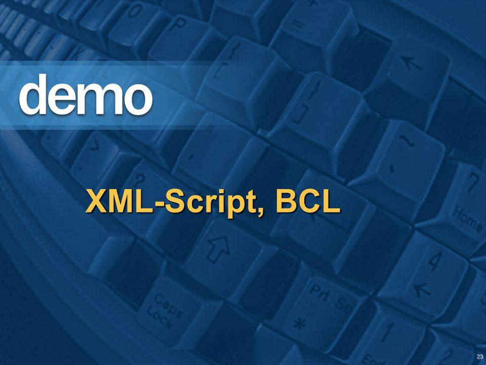 23 XML-Script, BCL
