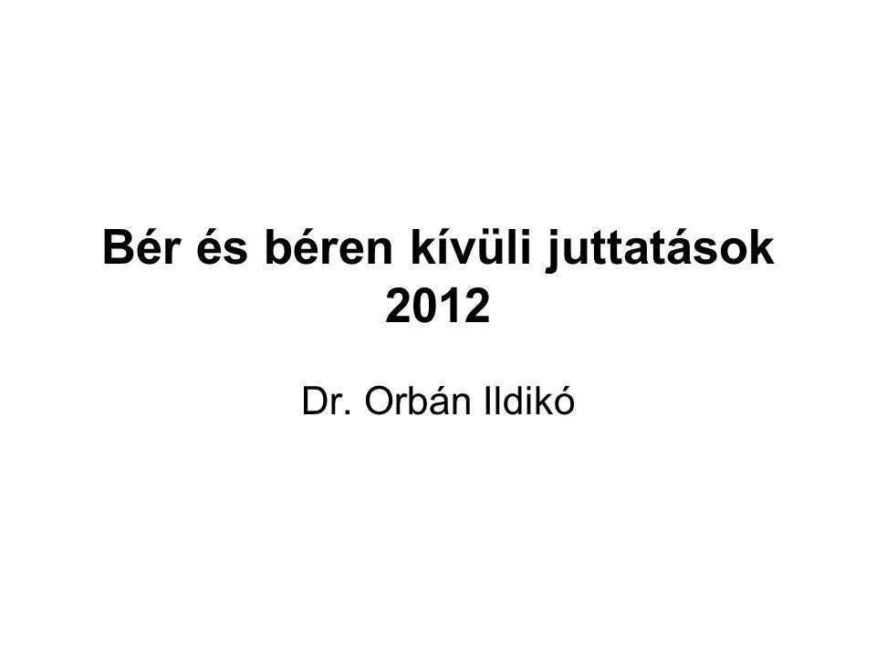 Bér és béren kívüli juttatások 2012 Dr. Orbán Ildikó