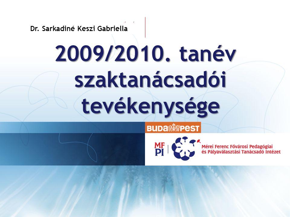 VEZETÉKNÉV KERESZTNÉV 2009/2010. tanév szaktanácsadói tevékenysége Dr. Sarkadiné Keszi Gabriella