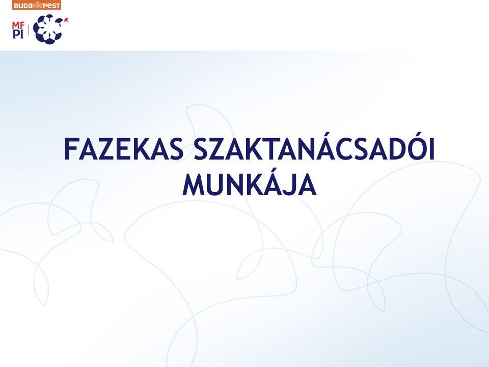 FAZEKAS SZAKTANÁCSADÓI MUNKÁJA