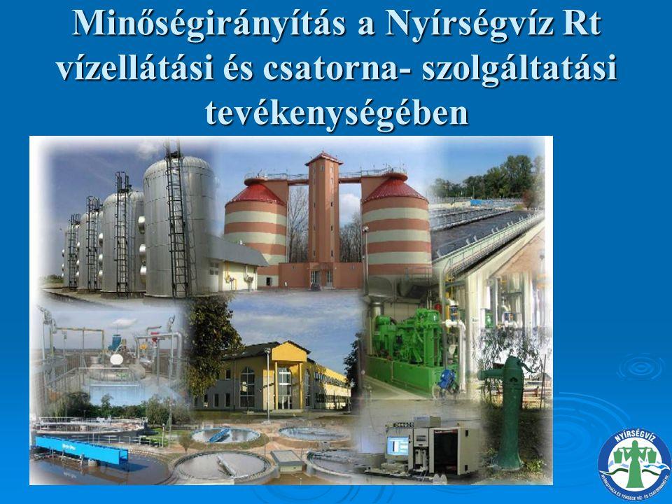 Az ivóvíz szolgáltatás folyamata VíztermelésVíztisztítás Ivóvízhálózatok üzemeltetése Távvezetéki vízszállítás Városi nyomásfokozás Vízelosztás, hálózat üzemeltetés Hibaelhárítás Hibaelhárítás K É P