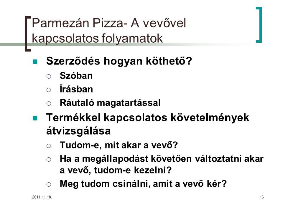 2011.11.18.16 Parmezán Pizza- A vevővel kapcsolatos folyamatok Szerződés hogyan köthető.