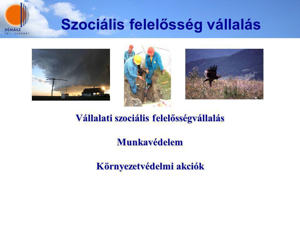 Vállalati szociális felelősségvállalás Munkavédelem Környezetvédelmi akciók Szociális felelősség vállalás