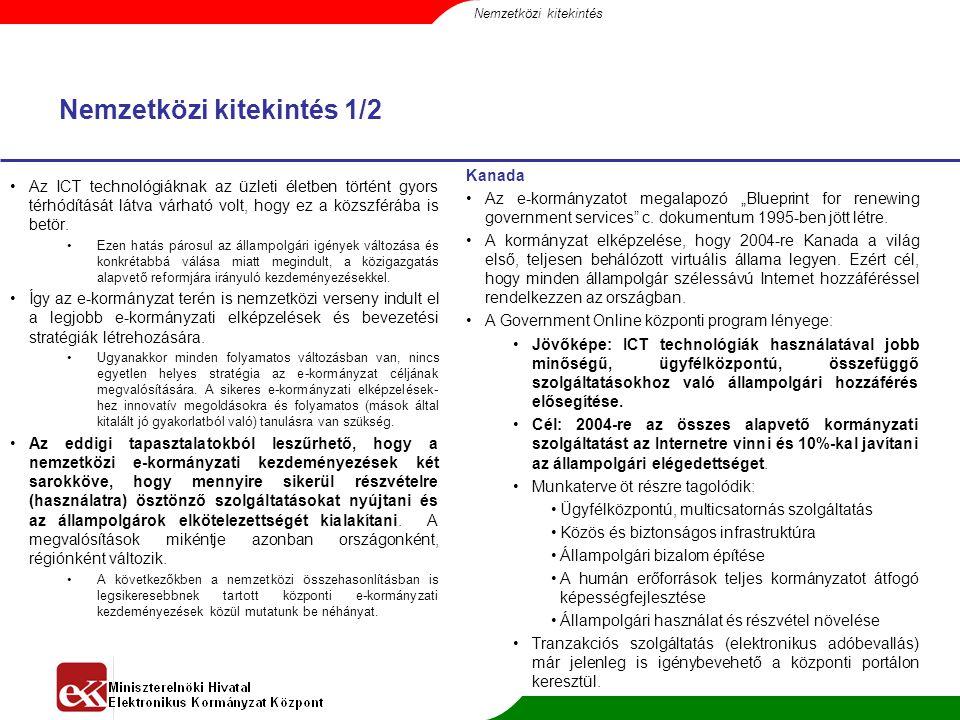 """Nemzetközi kitekintés 2/2 Nagy-Britannia  Az 1999-es """"A kormányzat modernizálásának Fehér Könyve fogalmazza meg az elektronikus kormányzattal szemben támasztott legfontosabb követelményeket."""