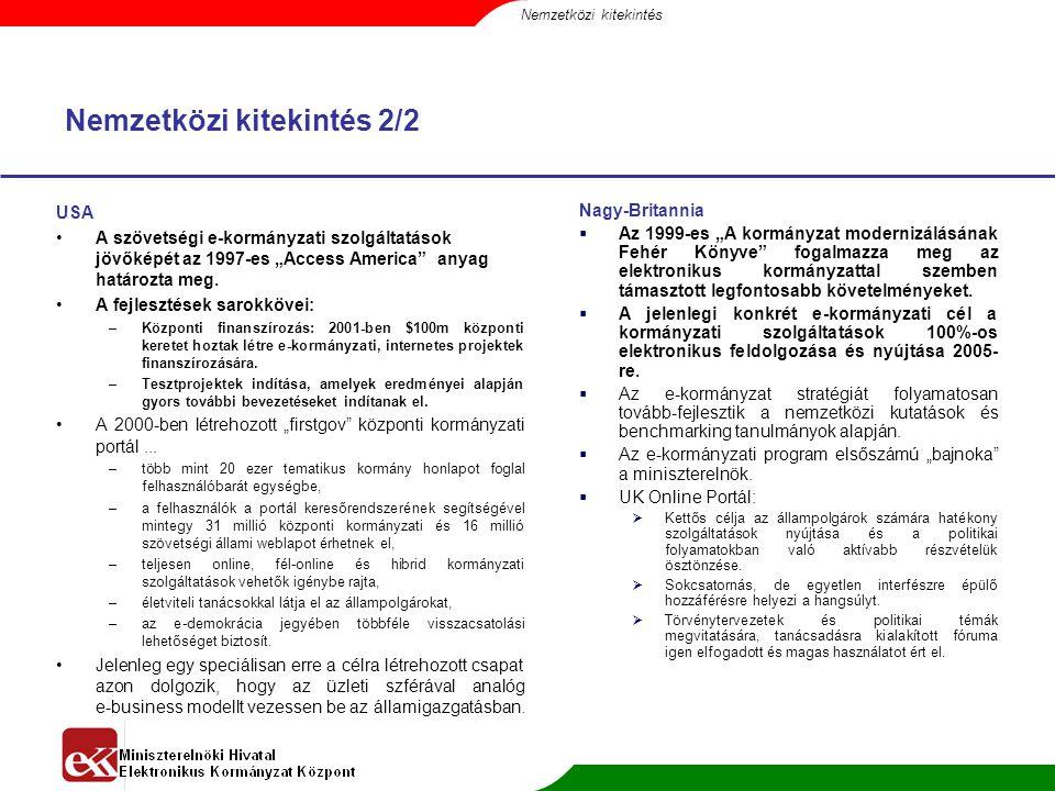 eEurope2005 A 2004 májusi EU csatlakozás miatt kiemelt feladat, hogy hazánk kapcsolódni tudjon az EU infrastrukturális hálózatához és rendszereihez.