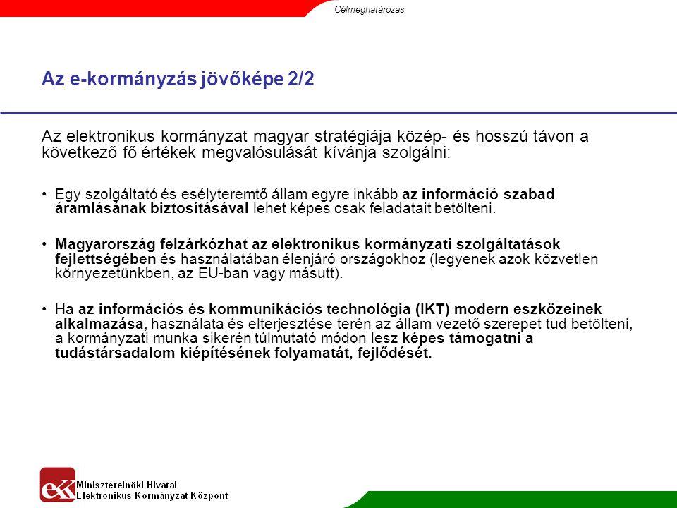 Átfogó e-kormányzati programok 1.Alapinfrastruktúra Kiépítése Átfogó Program 2.