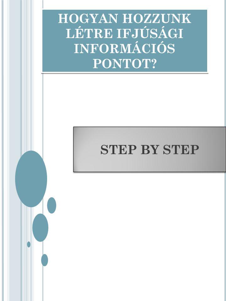 HOGYAN HOZZUNK LÉTRE IFJÚSÁGI INFORMÁCIÓS PONTOT? STEP BY STEP