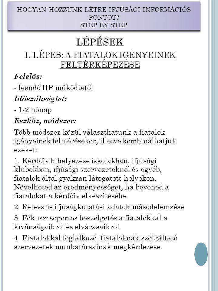 LÉPÉSEK 1.