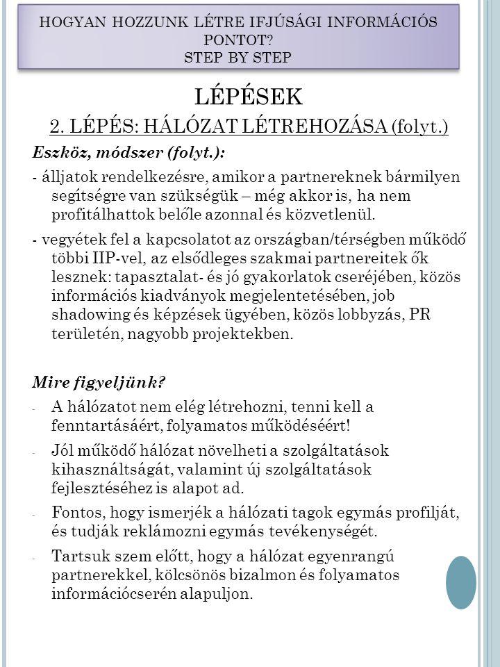 LÉPÉSEK 2.