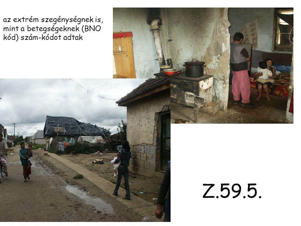 Z.59.5. az extrém szegénységnek is, mint a betegségeknek (BNO kód) szám-kódot adtak