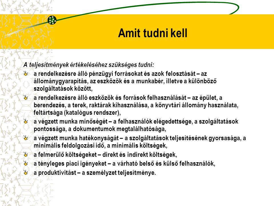 Fogalmi modell BEVITELI FORRÁSOK  KIMENETI TERMÉKEK  EREDMÉNYEK Beviteli források:ráfordítások, pl.