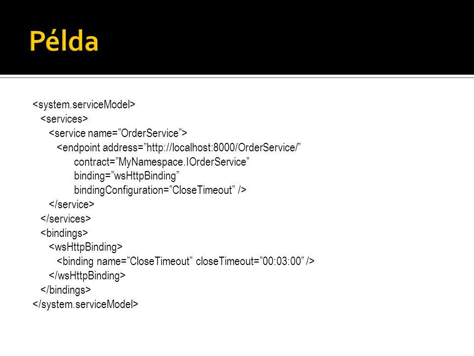 "<endpoint address=""http://localhost:8000/OrderService/"" contract=""MyNamespace.IOrderService"" binding=""wsHttpBinding"" bindingConfiguration=""CloseTimeou"