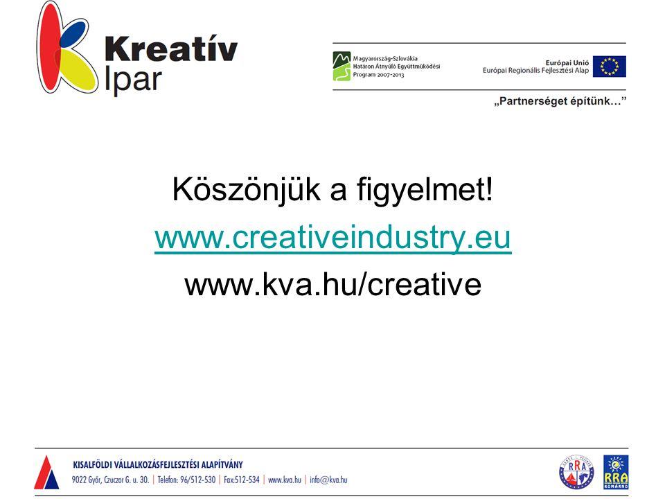 Köszönjük a figyelmet! www.creativeindustry.eu www.kva.hu/creative