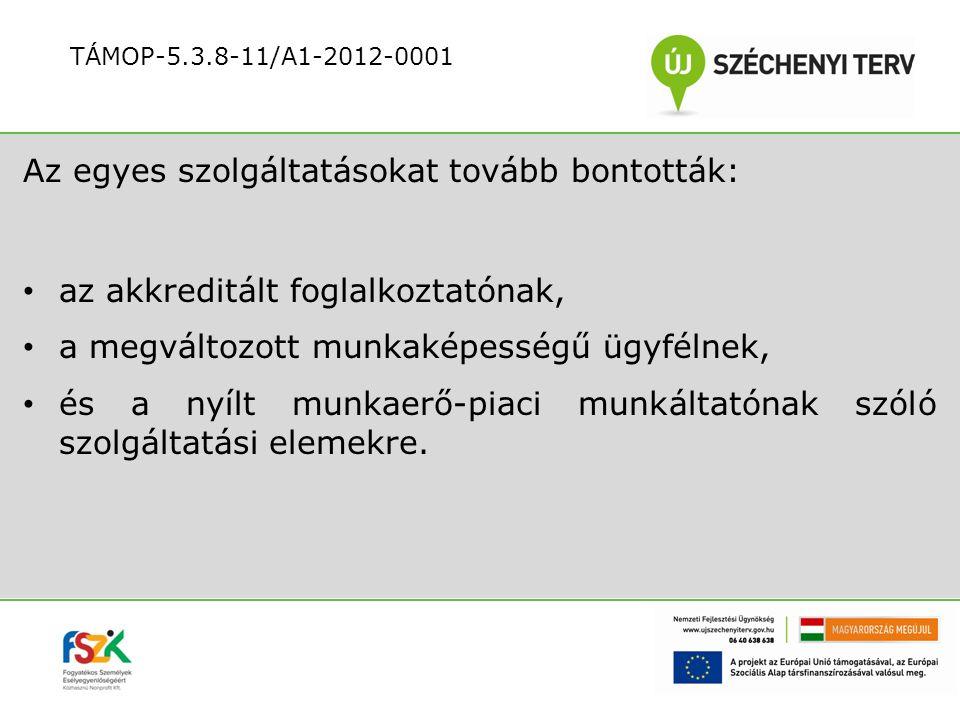 Az átvezetés akkreditált foglalkoztatói folyamatainak tevékenységei: az akkreditált foglalkoztató tájékoztatása konzultáció munkaviszony megszüntetése RSZSZ tájékoztatása a tranzitfoglalkoztatás befejezéséről TÁMOP-5.3.8-11/A1-2012-0001