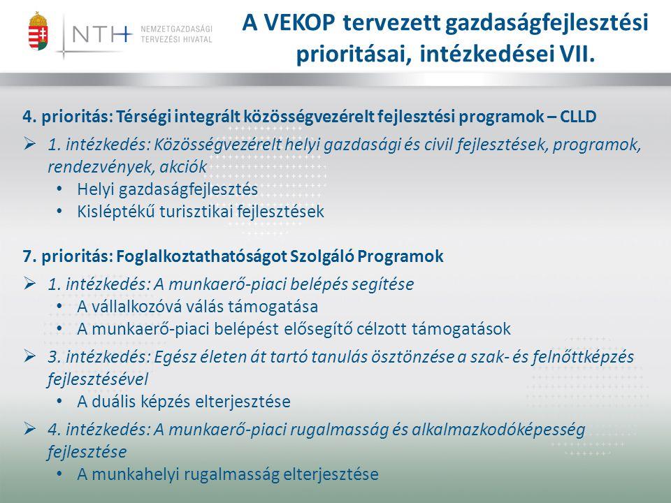 4.prioritás: Térségi integrált közösségvezérelt fejlesztési programok – CLLD  1.