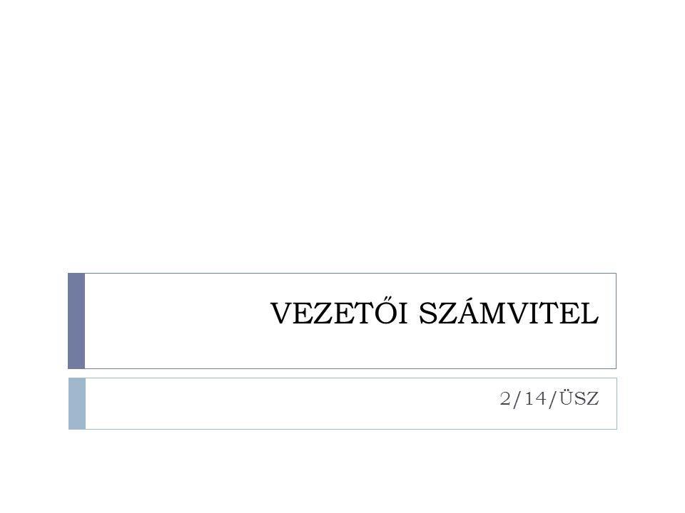 VEZETŐI SZÁMVITEL 2/14/ÜSZ