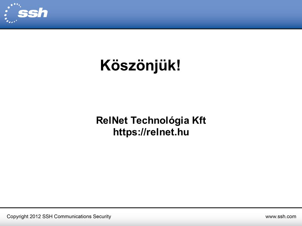 RelNet Technológia Kft https://relnet.hu Köszönjük!