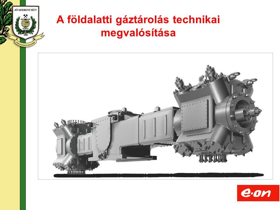 8 A földalatti gáztárolás technikai megvalósítása