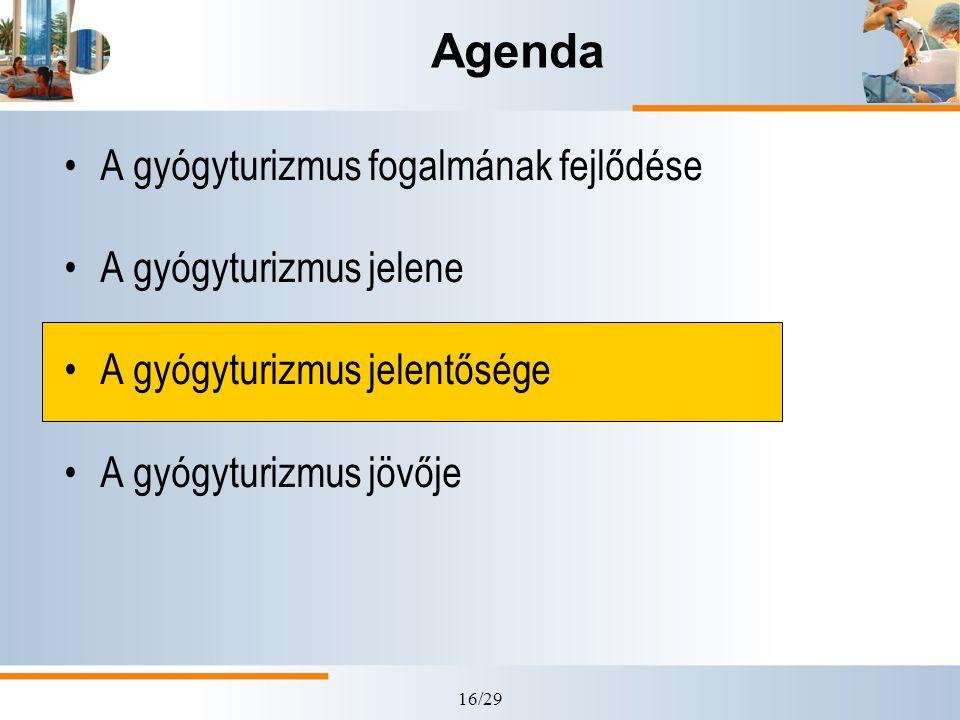 16/29 Agenda A gyógyturizmus fogalmának fejlődése A gyógyturizmus jelene A gyógyturizmus jelentősége A gyógyturizmus jövője