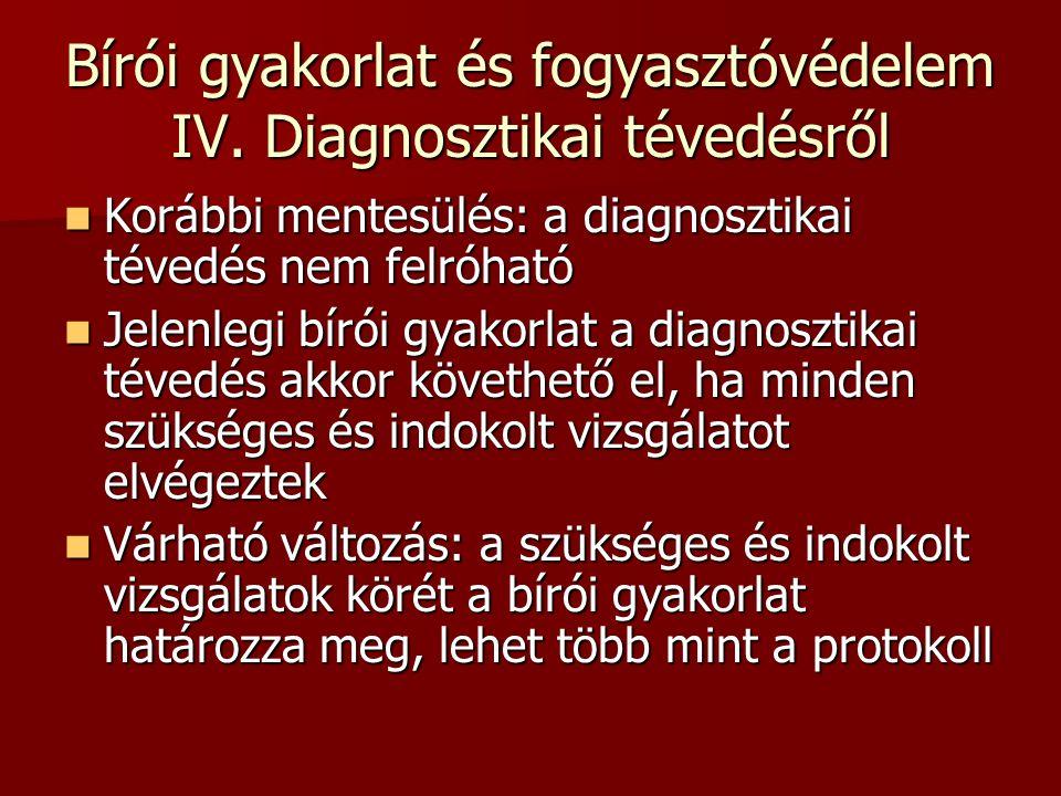 Bírói gyakorlat és fogyasztóvédelem IV.
