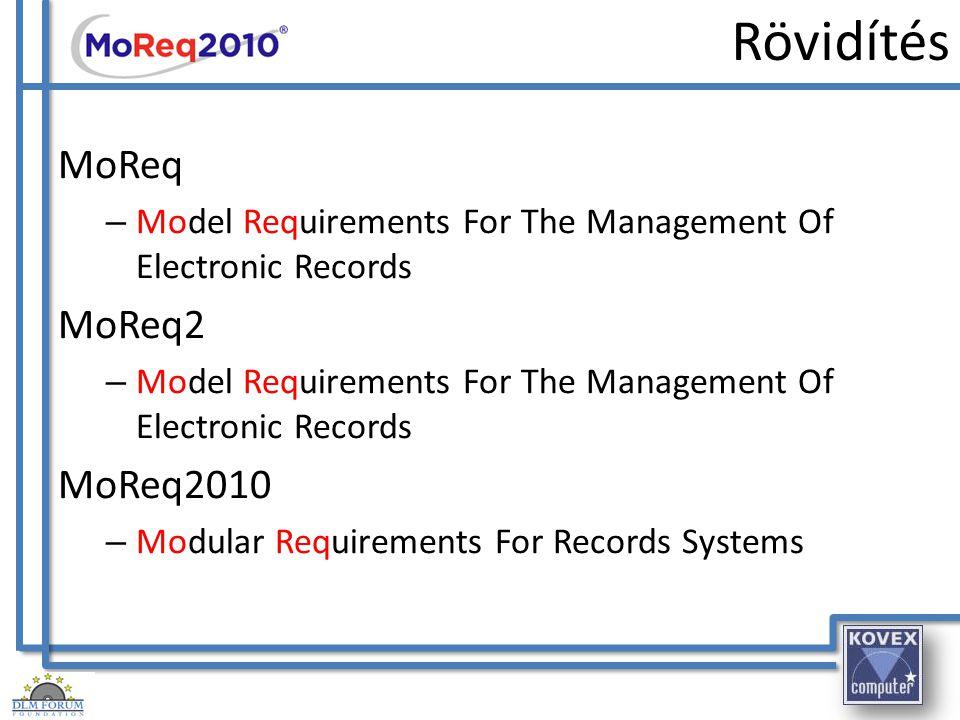 Történelem – ISO 15489 2001: ISO 15489 – Elektronikus iratok kezelése – Alapkifejezések – Iratkezelési folyamatok – Hogyan kell kezelni egy iratot – Iratkezelő rendszer alapok – 20 oldal