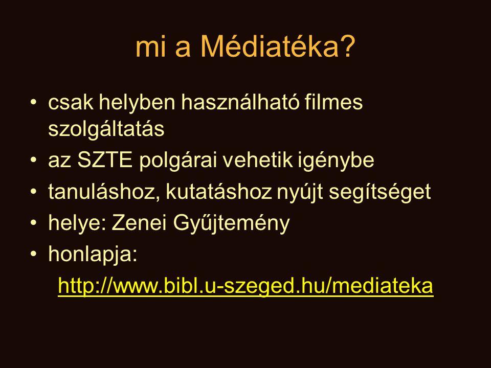 mi a Médiatéka.