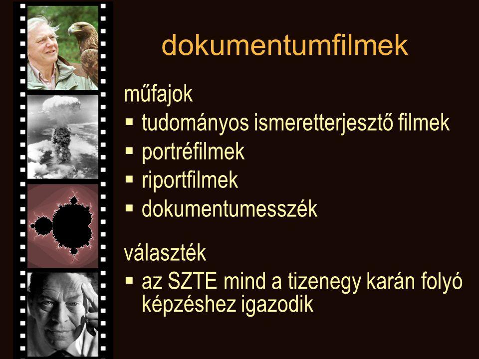 játékfilmek  irodalmi adaptációk (főként klasszikusok, de igényes modern feldolgozások, valamint színpadi közvetítések is)  művészfilmek, kultuszfilmek  magyar vonatkozású filmek