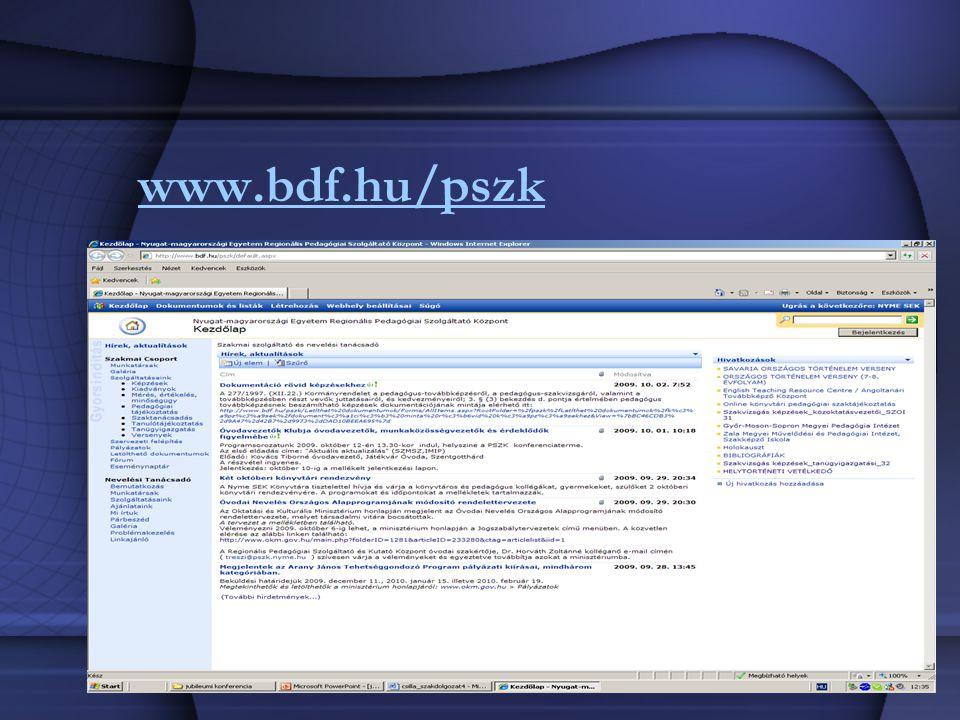 www.bdf.hu/pszk