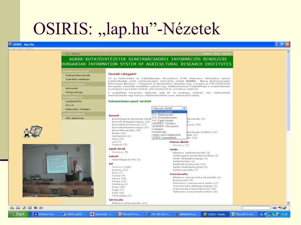 """OSIRIS: """"lap.hu""""-Nézetek"""