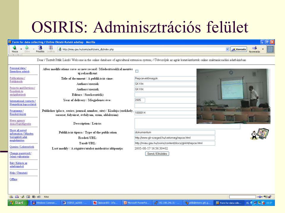 """OSIRIS: """"lap.hu -Nézetek"""