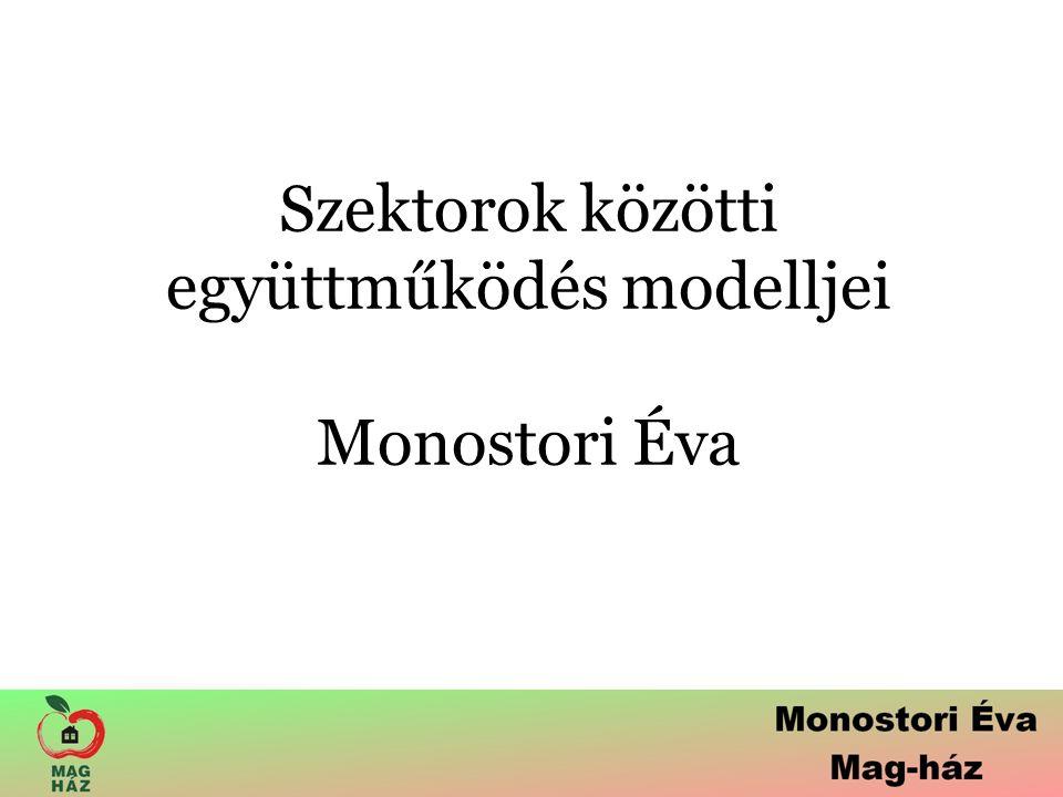 Szektorok közötti együttműködés modelljei Monostori Éva