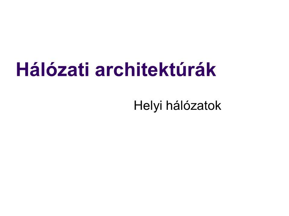 Hálózati architektúrák Helyi hálózatok