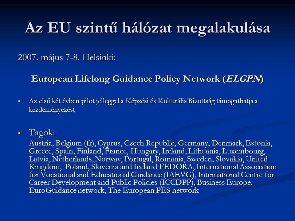 Az EU szintű hálózat megalakulása 2007.május 7-8.