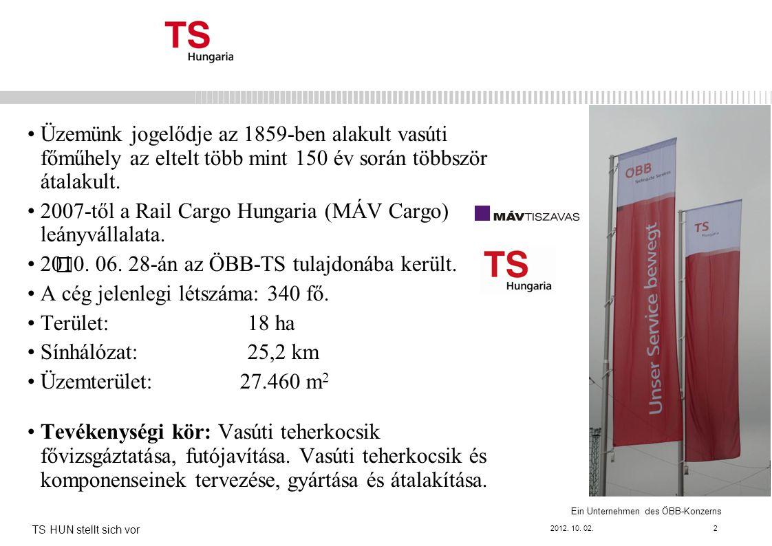 Ein Unternehmen des ÖBB-Konzerns Üzemünk jogelődje az 1859-ben alakult vasúti főműhely az eltelt több mint 150 év során többször átalakult.