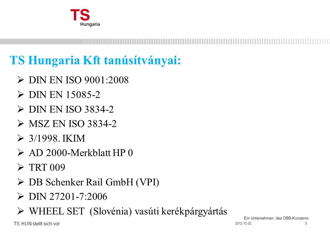 Ein Unternehmen des ÖBB-Konzerns  DIN EN ISO 9001:2008  DIN EN 15085-2  DIN EN ISO 3834-2  MSZ EN ISO 3834-2  3/1998.