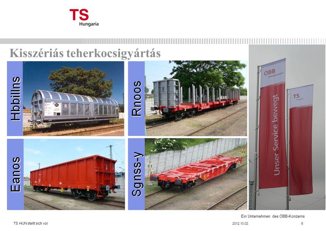 Ein Unternehmen des ÖBB-Konzerns Kisszériás teherkocsigyártás 2012.10.02. TS HUN stellt sich vor 5