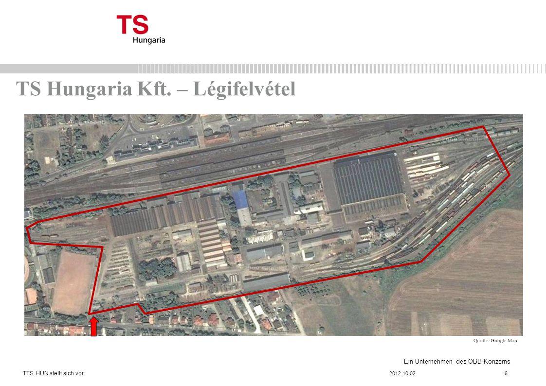Ein Unternehmen des ÖBB-Konzerns TS Hungaria Kft.– Légifelvétel 2012.10.02.