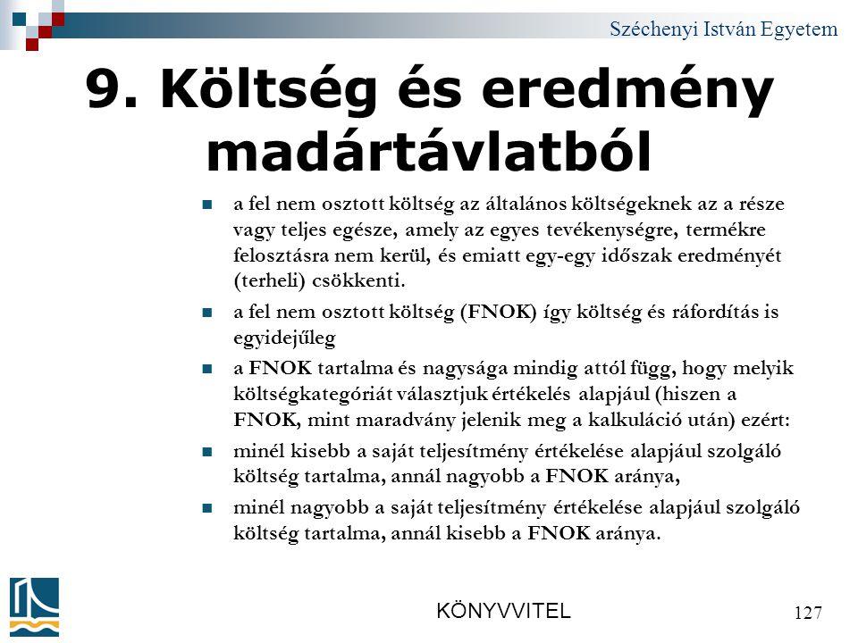 Széchenyi István Egyetem KÖNYVVITEL 127 9.
