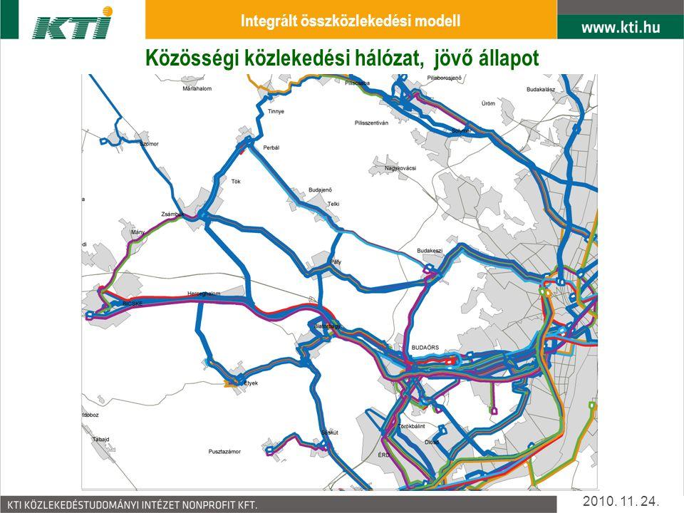 Közösségi közlekedési hálózat, jelen állapot 2010.