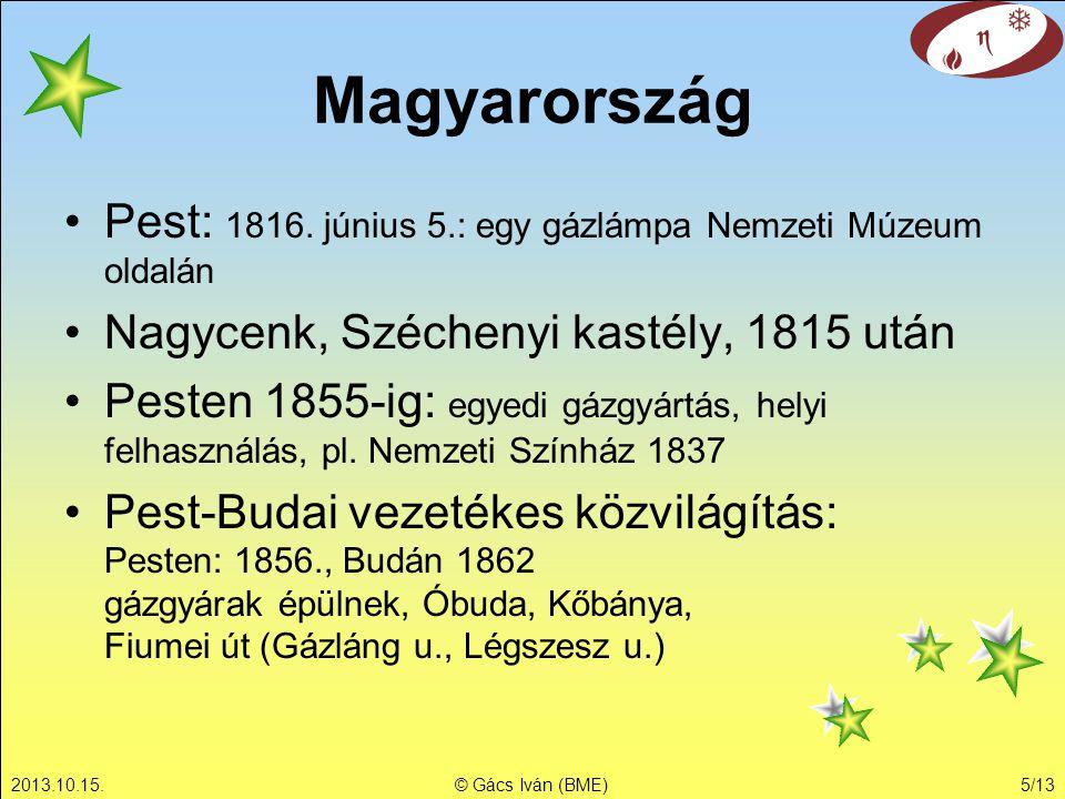 2013.10.15.© Gács Iván (BME)5/13 Magyarország Pest: 1816.