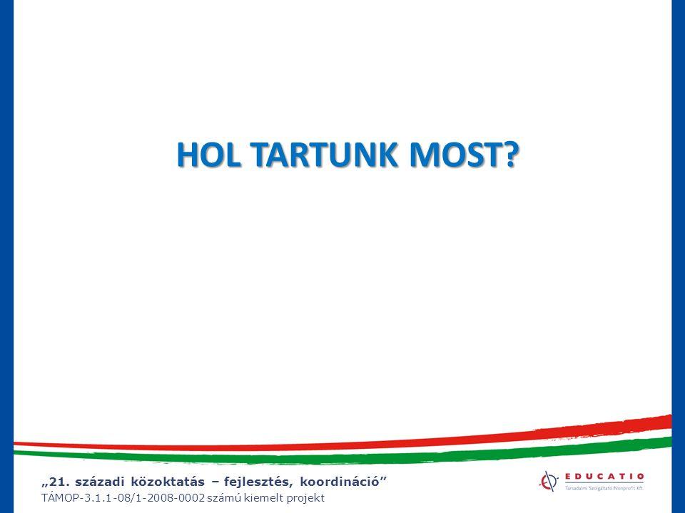 """""""21. századi közoktatás – fejlesztés, koordináció"""" TÁMOP-3.1.1-08/1-2008-0002 számú kiemelt projekt HOL TARTUNK MOST?"""