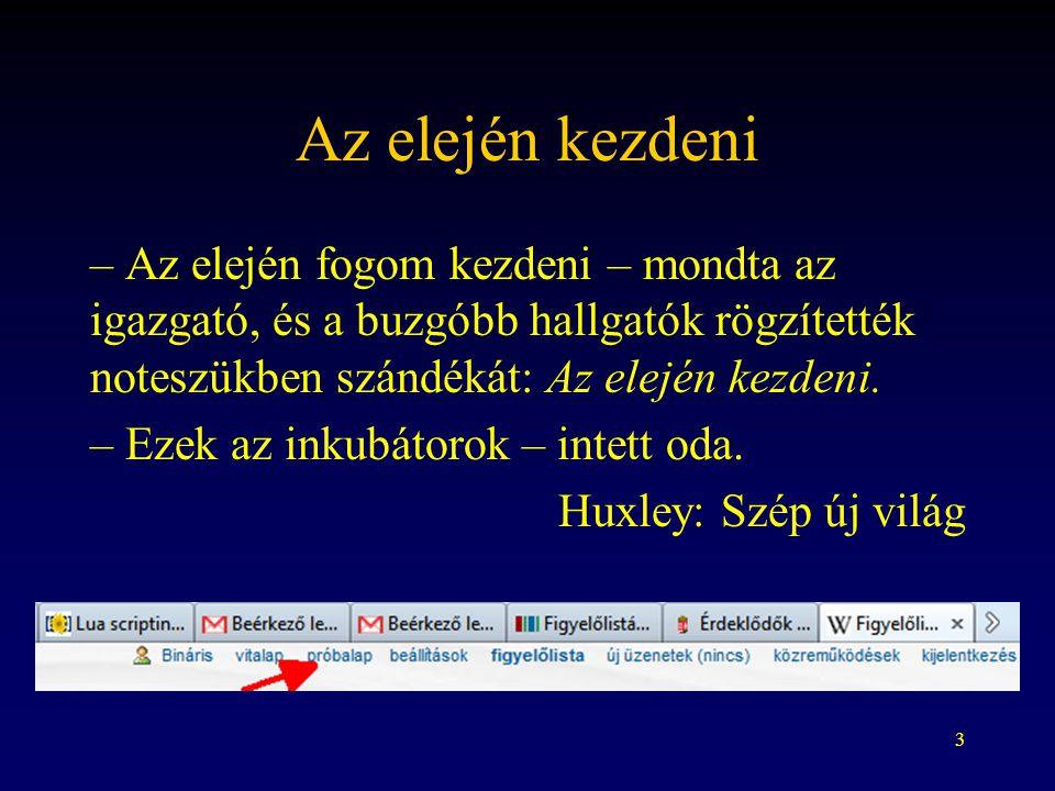 14 Külső hivatkozások http://mkab.hu/ (automatikus link szöveg nélkül)http://mkab.hu/ [http://mkab.hu/ Az Alkotmánybíróság honlapja] (link értelmes szöveggel – itt nem vonal van, hanem szóköz) [http://mkab.hu/] (link csak számmal) A protokollt nem hagyhatjuk el.