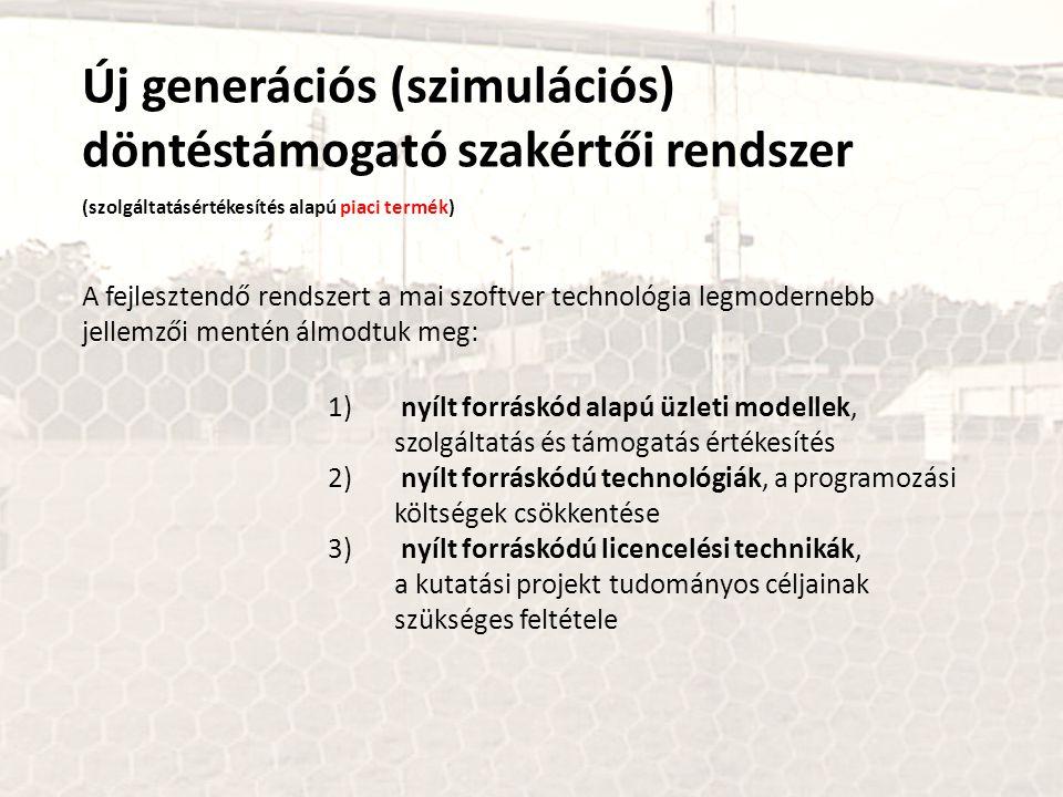 Új generációs (szimulációs) döntéstámogató szakértői rendszer (szolgáltatásértékesítés alapú piaci termék) 1) nyílt forráskód alapú üzleti modellek, s