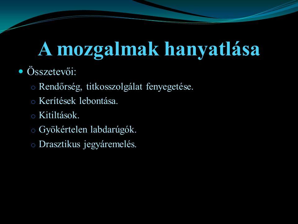 Irodalomjegyzék Cass Pennant: Cass, Envoy Books, 2000, United Kingdom Hunyady György: Történeti bevezetés a szociálpszichológiába, 1998, Eötvös Kiadó John King: Futball faktor, 2005, Pesti Kalligram Kft Prof.
