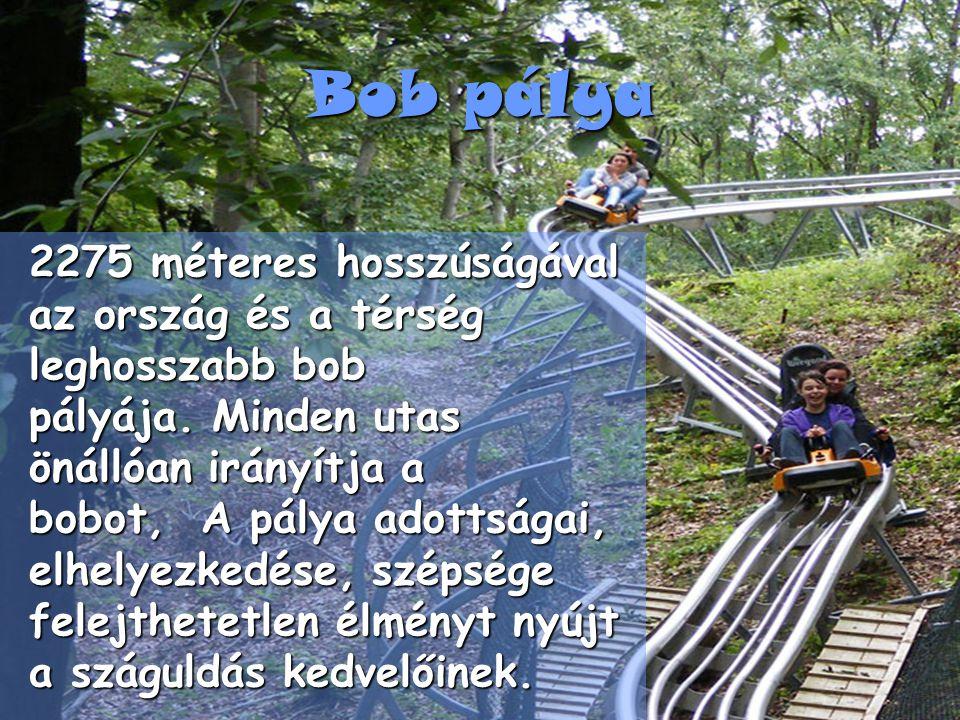 Bob pálya 2275 méteres hosszúságával az ország és a térség leghosszabb bob pályája.