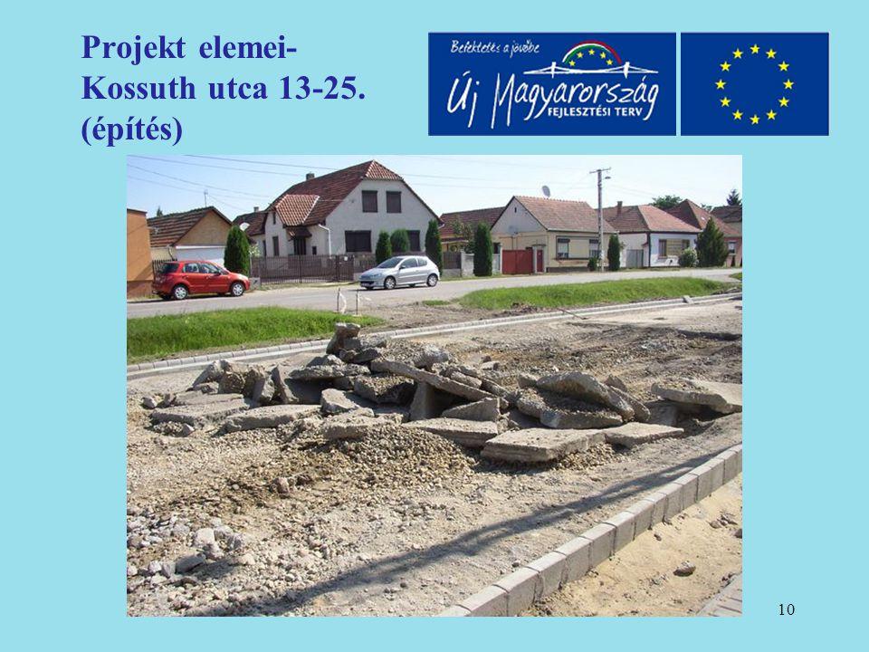 11 Projekt elemei- Kossuth utca 13-25. (építés)